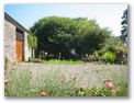 Hollywood Cottage - Holiday Cottages Wales - Garden in front of barn